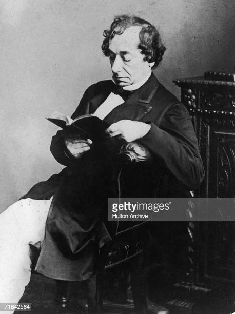English statesman Benjamin Disraeli 1st Earl of Beaconsfield between his terms of office as Prime Minister 1872