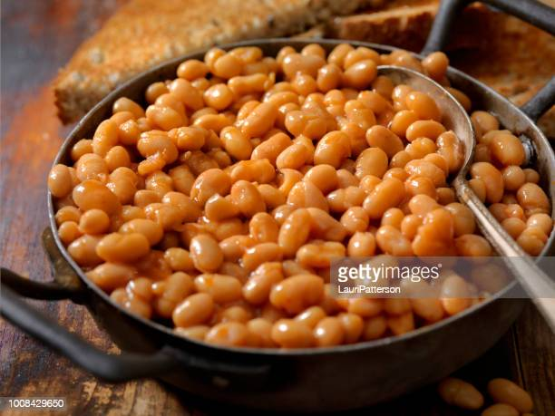 english style beans and toast - bean stock pictures, royalty-free photos & images