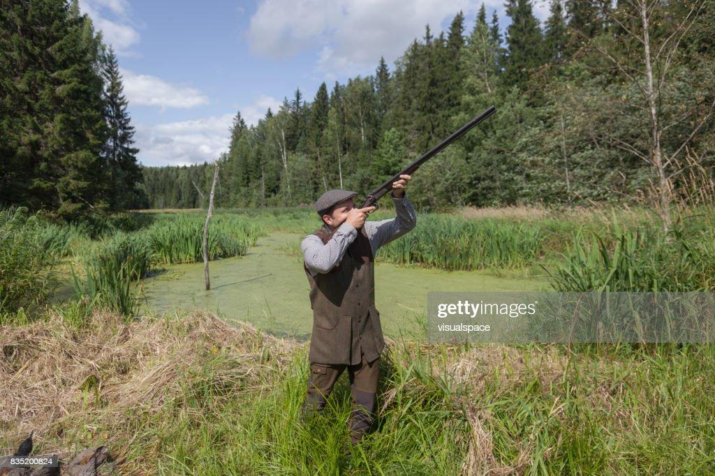 English style gentleman hunter : Stock Photo