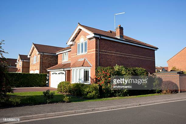 english suburban house. - roof tile stock pictures, royalty-free photos & images