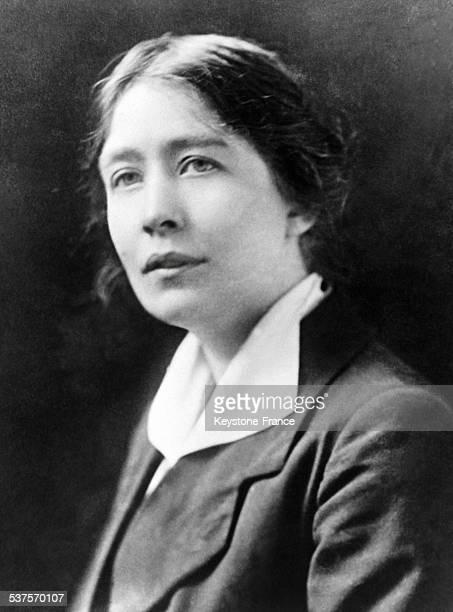 English suffragette Sylvia Pankhurst daughter of feminist Emmeline Pankhurst circa 1930