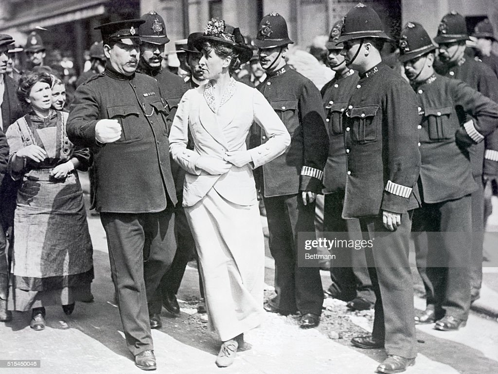 English Suffragist About To Be Arrested : News Photo