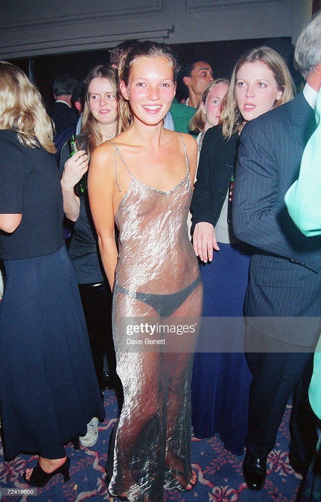 Kate Moss at the 1993 Look of the Year Contest : News Photo