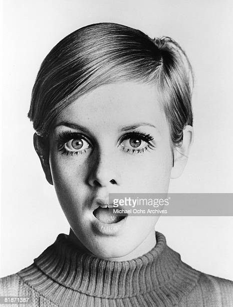 """English supermodel Twiggy poses for a portrait during the filming of """"Twiggy in Hollywood"""" directed by Bert Stern part of a three episode documentary..."""