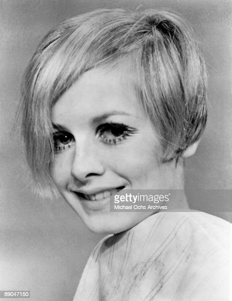 English supermodel Twiggy poses for a portrait during the filming of 'Twiggy in Hollywood' directed by Bert Stern part of a three episode documentary...