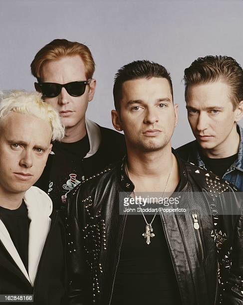 English synthpop band Depeche Mode 1990 From left to right they are Martin Gore Andy Fletcher Dave Gahan and Alan Wilder