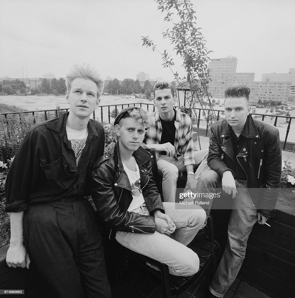 English synthpop group, Depeche Mode, West Berlin, July 1984. Left to right: Andy Fletcher, Martin Gore, Dave Gahan and Alan Wilder.