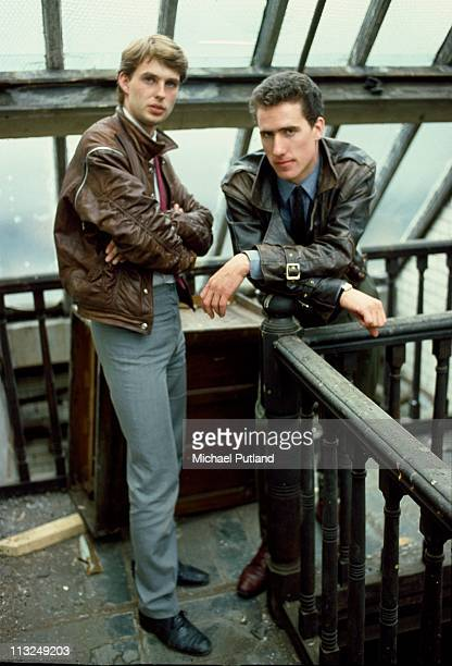 English synthpop group Orchestral Manoeuvres in the Dark Liverpool LR keyboard player Paul Humphreys and bassist Andy McCluskey