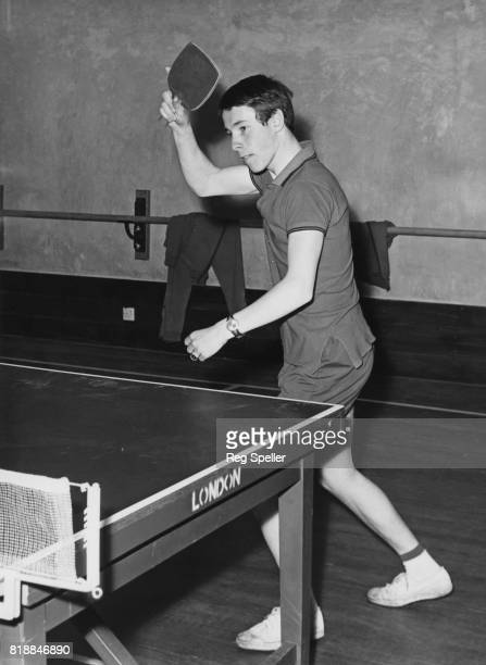 English table tennis champion Chester Barnes in action May 1965