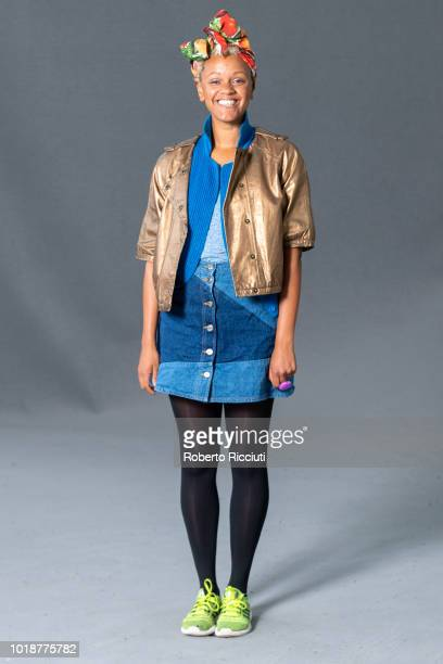 English television and radio presente Gemma Cairney attends a photocall during the annual Edinburgh International Book Festival at Charlotte Square...