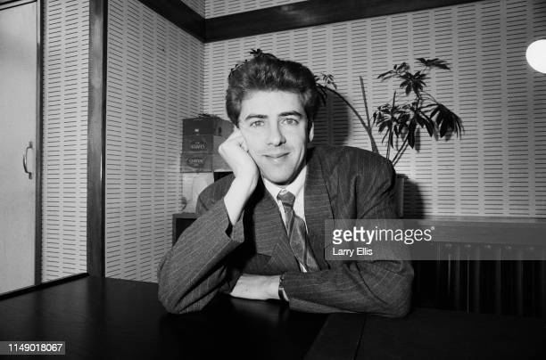 English television and radio presenter, film critic, actor and comedian Jonathan Ross, UK, 2nd April 1984.