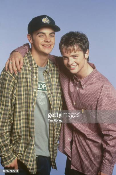English television duo Ant Dec aka Anthony McPartlin and Declan Donnelly as pop duo PJ Duncan circa 1995