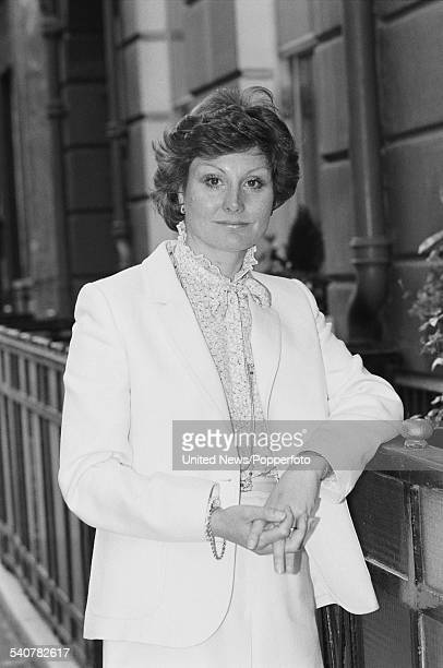 English television journalist and newsreader Angela Rippon pictured in London on 13th April 1982