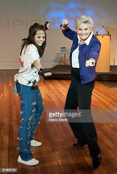 English television journalist  Angela Rippon attends the Dance Champions Group at the Royal Festival Hall on October 15 2009 in London England The...