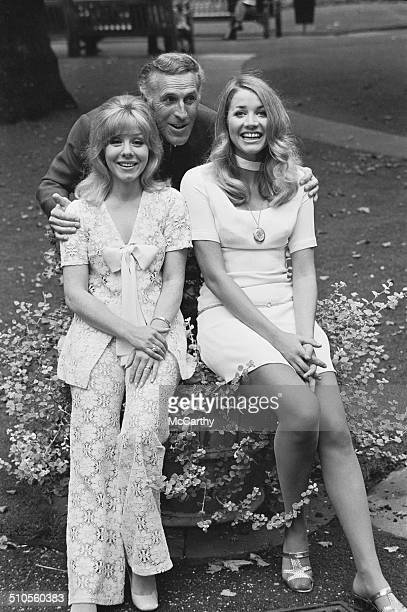 English television presenter and entertainer Bruce Forsyth with British actress Julia Lockwood and British actress June Barry who are due to star in...