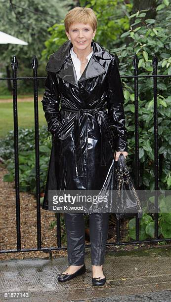 English television presenter and former journalist Anne Robinson attends Sir David Frost's Summer Party at Carlyle Square on July 09 2008 in London...
