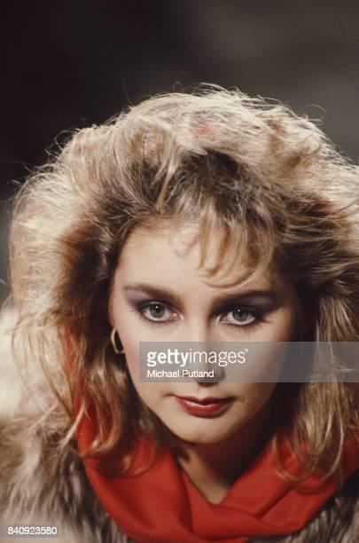 English television presenter and singer of pop group Bucks Fizz Cheryl Baker 1984