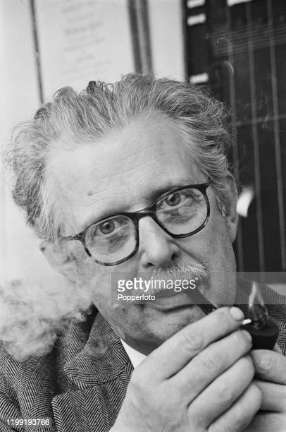 English television presenter and writer Jack Hargreaves lighting a pipe in March 1968. Jack Hargreaves currently presents the television series 'Out...