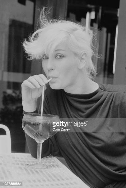 English television presenter and writer Paula Yates having a drink UK 18th July 1979