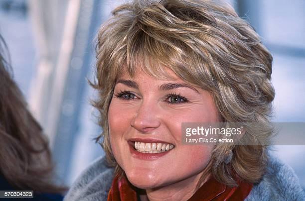 English television presenter Anthea Turner circa 1995