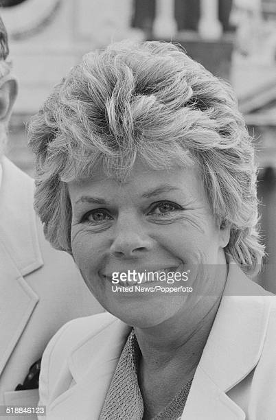 English television presenter Judith Chalmers in London on 23rd April 1981.