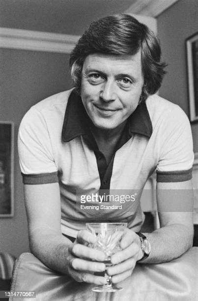 English television presenter Michael Aspel, UK, 16th August 1974. He is about to start work as the new host of a mid-morning music and chat programme...