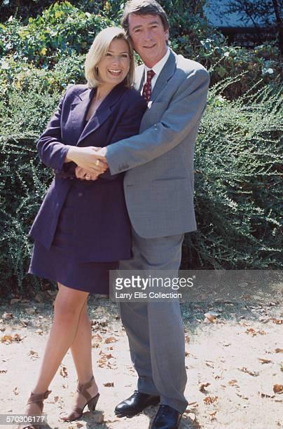 English television presenter Penny Smith and Northern Irish journalist and broadcaster Gordon Burns circa 1995