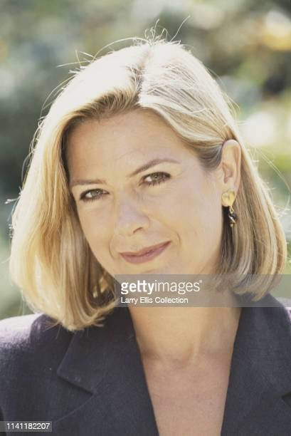 English television presenter Penny Smith co presenter of the game show 'The Krypton Factor' posed in August 1995
