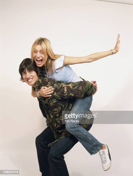English television presenters Tess Daley and Vernon Kay, circa 2005. Married in 2003, they co-presented the show 'Just the Two of Us' from 2006 to...