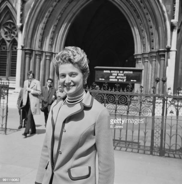 English tennis player Angela Buxton outside the Royal Court of Justice London UK 18th May 1973