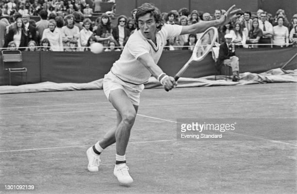 English tennis player John Feaver at the Wimbledon Championships in London, UK, 29th June 1973.