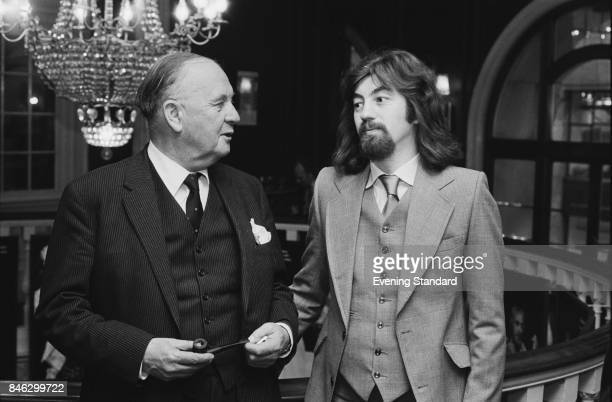 English theatre and artistic director for the Royal Shakespeare Company Trevor Nunn with George Farmer chairman of the Royal Shakespeare Company 7th...