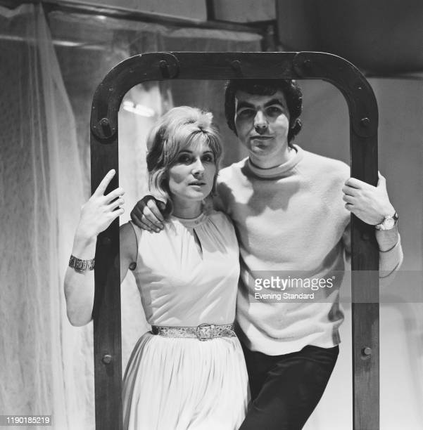 English theatre producer Bill Kenwright posed with actress Virginia Stride in London on 14th January 1971.