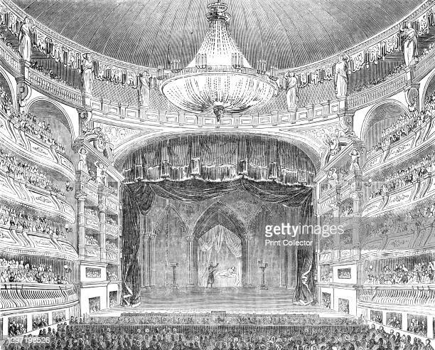 English theatricals at Paris - the Salle Ventador, 1844. A production of Shakespeare's 'Othello' on the French stage. 'The Salle itself is perhaps...