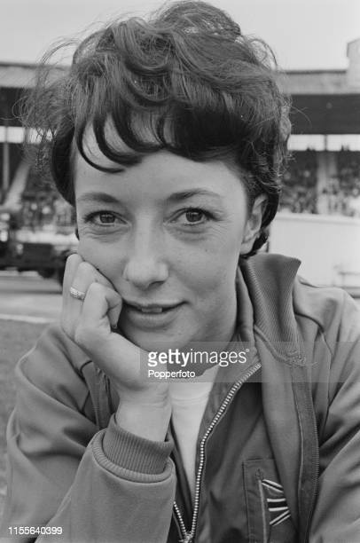 English track and field athlete Ann Packer pictured during an athletics meeting at White City Stadium in London in 1965