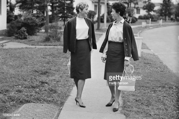 English track and field athlete Mary Rand with English sprinter hurdler and long jumper Ann Packer 19th October 1964