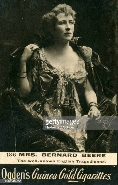 English tragedienne stage actress Mrs Bernard Beere depicted on collectible tobacco card from circa 18941907 Ogden's Guinea Gold Cigarettes from...