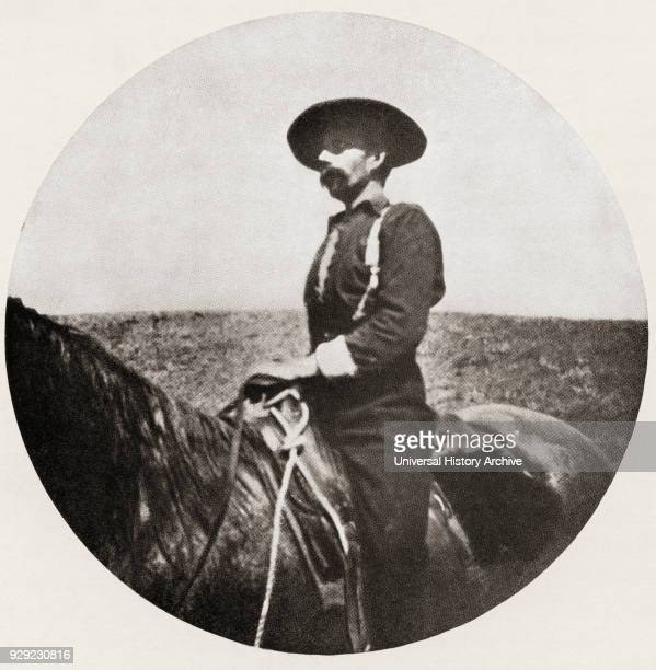 English traveler adventurer missionary pirate soldier frontiersman and cowboy Founder of the Legion of Frontiersmen Seen here in 1899 after his...