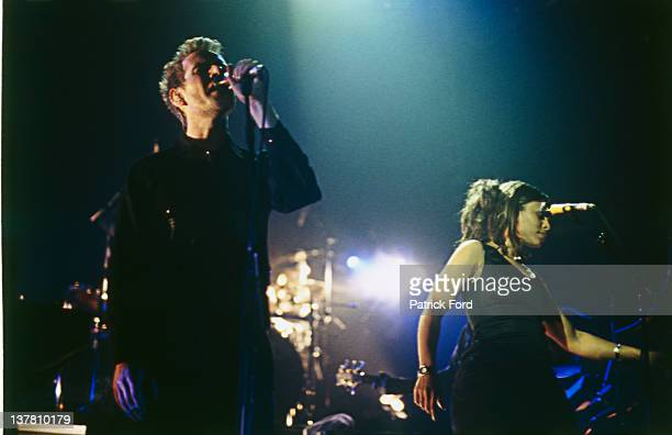 English trip hop group Massive Attack performing on stage circa 1995