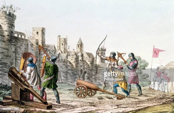 English troops attacking a French