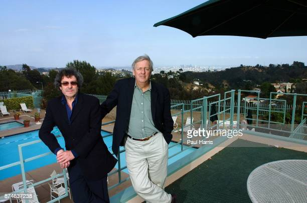 English TV and Movie writers and creators of Auf Wiedersehen, Pet , Ian Le Frenais and Dick Clement at The Mulholland Tennis Club May 1, 2002 inthe...