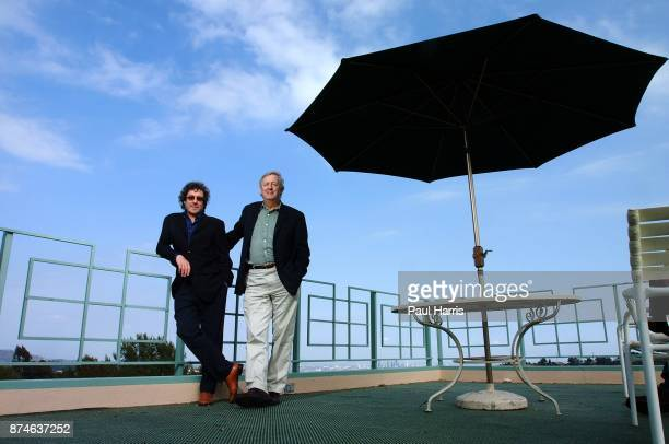 English TV and Movie writers and creators of Auf Wiedersehen, Pet , Ian Le Frenais and Dick Clement at The Mulholland Tennis Club May 1, 2002 in the...