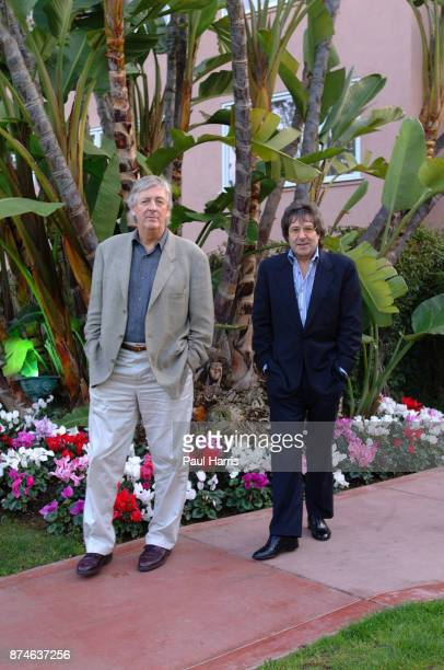 English TV and Movie writers and creators of Auf Wiedersehen, Pet , Ian Le Frenais and Dick Clement The Beverly Hills Hotel March 12, 2002 in Beverly...