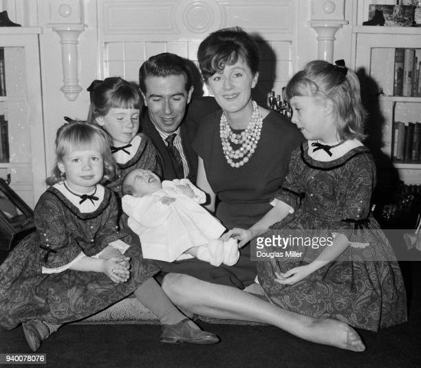 English TV presenter Leslie Crowther and his wife Jean with their daughters Elizabeth Ann and Lindsay Jane both aged 8 Caroline Susan aged 3 and...