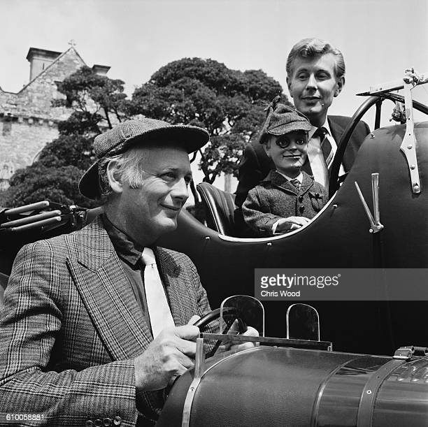 English ventriloquist Ray Alan with his puppet Lord Charles and motoring enthusiast Lord Montagu UK 21st July 1971
