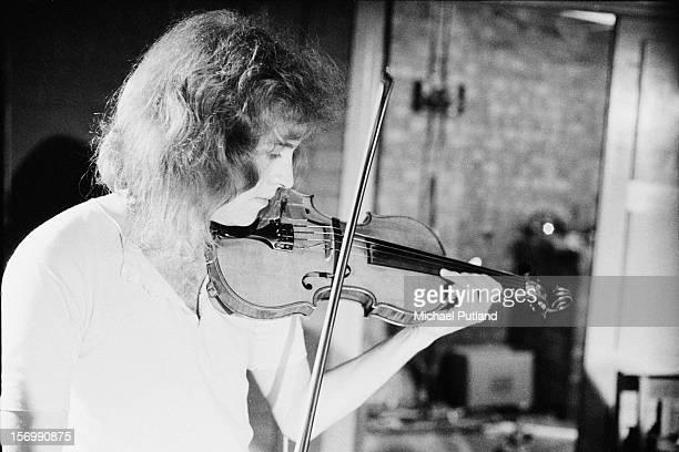 English violinist David Cross of progressive rock band King Crimson circa 1972