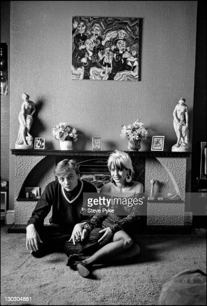 English vocalist and songwriter Mark E Smith with his wife American guitarist Brix Smith both of British rock group The Fall Manchester 17th October...