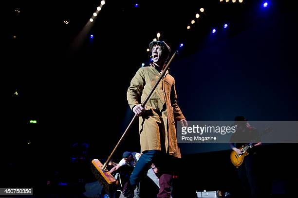 English vocalist Ryan ODonnell performing live on stage as a member of progressive rock musician Ian Anderson's touring band at the Royal Albert Hall...