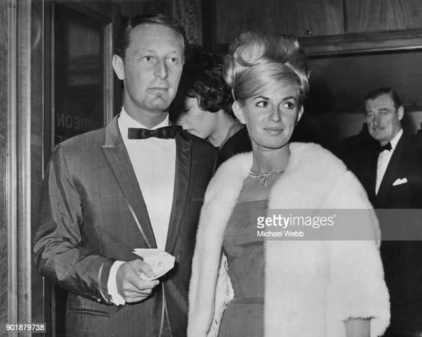 English washing machine tycoon John Bloom and his wife Anne attend the premiere of Hitchcock's 'The Birds' at the Odeon Leicester Square London 29th...