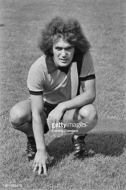 English winger Graham French of League Division 2 team Luton Town FC, at the start of the 1973-4 football season, UK, 6th August 1973.